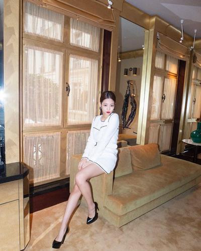 White Mini Dress X Bold Makeup