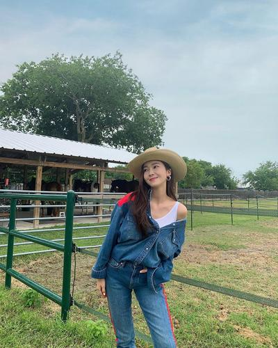 6. Denim on denim ala cowgirl