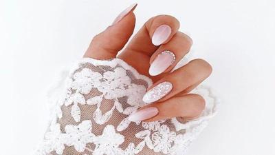 Ombre Wedding Nails
