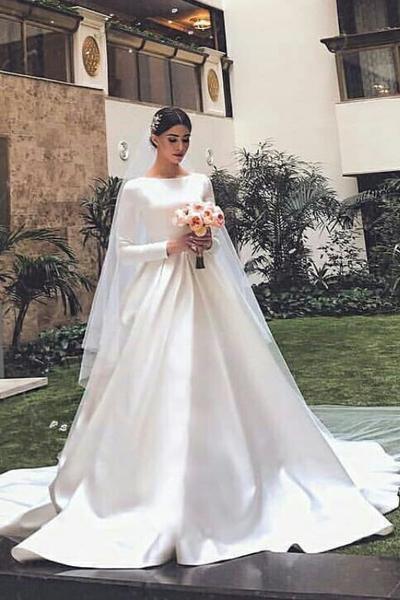 Satin and Silk Mermaid Wedding Dress