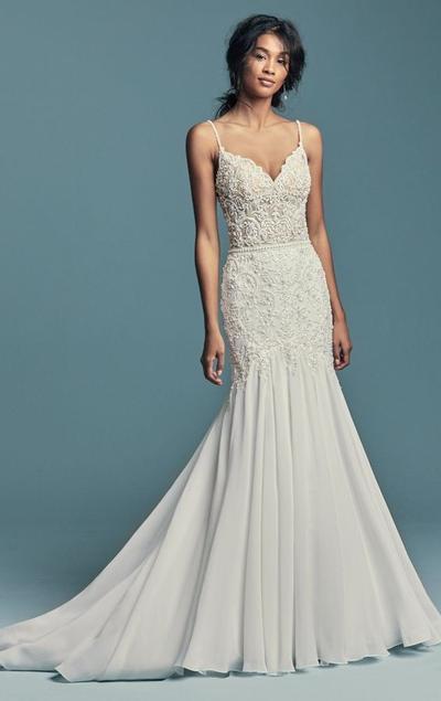 Straps Mermaid Wedding Dress