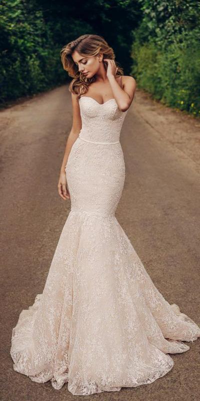 Strapless Corset Mermaid Wedding Dress