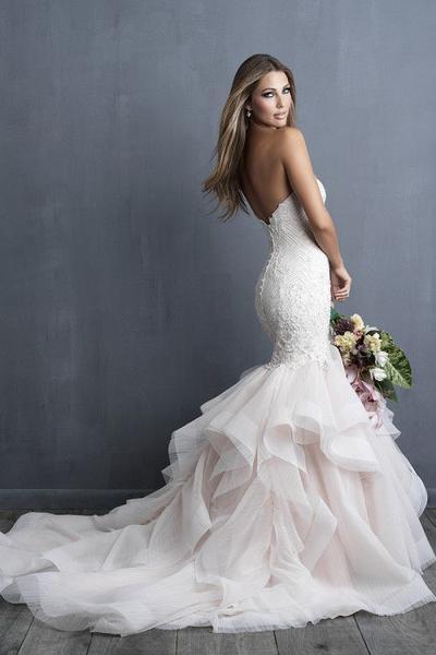 Ruffle Mermaid Wedding Dress