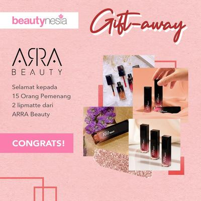 [GIFT-AWAY ALERT] 15 Pemenang Beruntung GIFT-AWAY : Anti-Aging Lipmatte ARRA Beauty! Intip Disini Ya, Ladies!