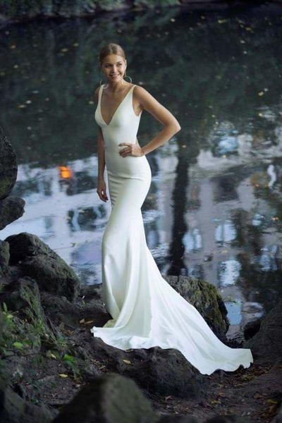 Mermaid Casual Wedding Dress