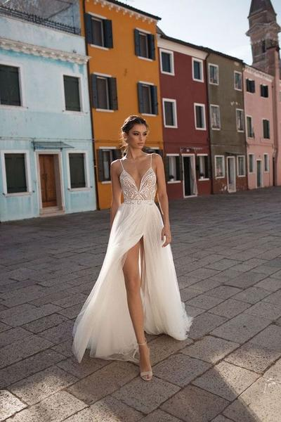 Tulle Casual Wedding Dress