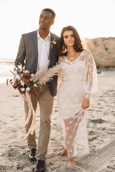 Boho Style Casual Wedding Dress