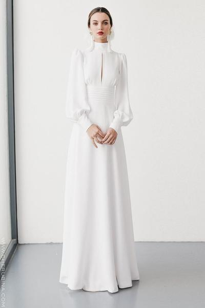Turtle Neck Casual Vintage Wedding Dress