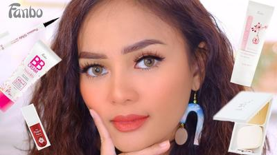 Tutorial Makeup Sawo Matang dengan Fanbo Cosmetics ala Rachel Goddard