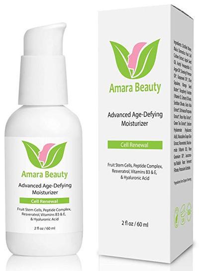 2.   Amara Organics Advanced Age- Defying Moisturizer