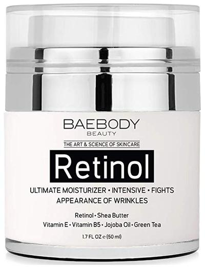 3.  Baebody Retinol Moisturizer Cream for Face and Eye Area