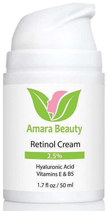 6.   Amara Organics Retinol Cream
