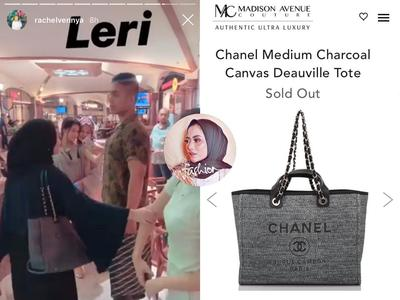 Chanel Deauville Medium Charcoal Tote Bag