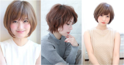 Short Round Bobs With Bangs
