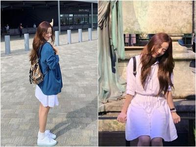 Casual White Dress, Oversize Outer, dan Back Pack