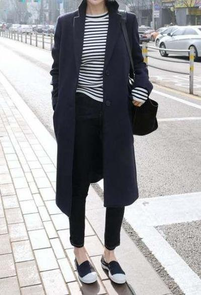 Korean Coat Look style