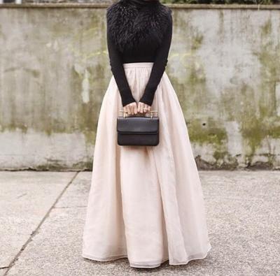 Model Rok Panjang Hijab Untuk Si Tubuh Gemuk Yang Bisa Bikin Kamu