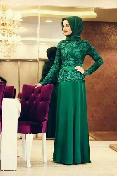 Model Kebaya Brokat Muslim