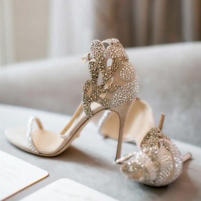 embellished heels sandals